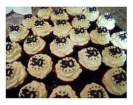 50th Birthday Cupcake Decorating Ideas