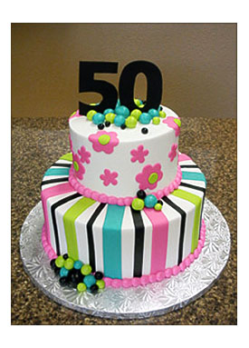 Birthday Cake Ideas Women On 50th For