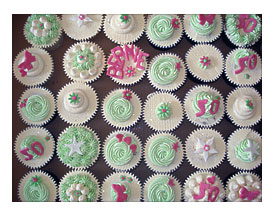 Lovely Summery 50th Birthday Cupcakes By Lizzies Tea Party
