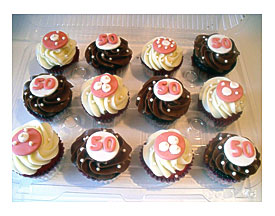 50th Birthday Cupcake DecorationsHandmade Party Decor