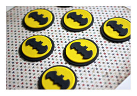 graphic about Batman Cupcake Toppers Printable identified as Batman Cupcakes ToppersBatman Comedian Cupcake Topper Rings
