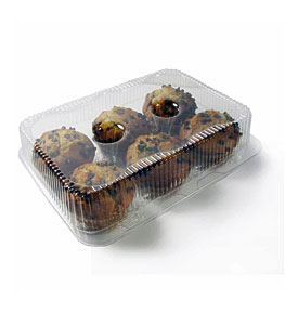 Clamshell Cupcake Containerschefible Premium 6 Cupcake