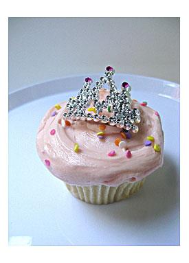Mini Tiara Princess Crown Cupcake Topper By TheGlitterShoppe