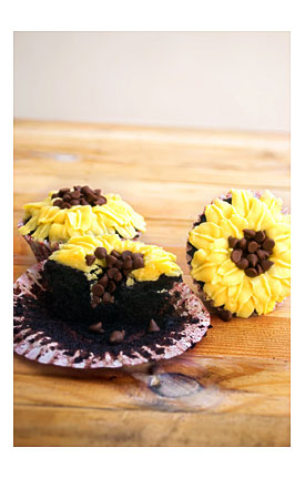 Sunflower Cupcake Linerssilicone Cupcake Liners Inch