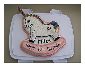 Cake Was Made Using The Rocking Horse Pan It A Funfetti
