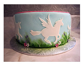 Unicorn Cake Pan Wilton One Box Cake Fits Perfectly
